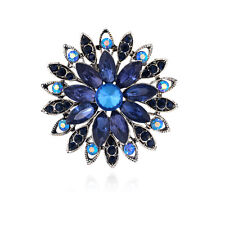 Wedding Bridal Brooches Pins Jewellery Hot Crystal Rhinestones Blue Glass Party