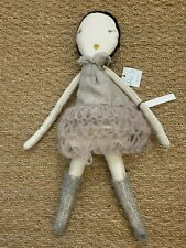 NWT Jess Brown Rag Doll with Knitted Skirt