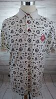 Mecca Mens Casino Gambling High Rollers Short Sleeve Polo Shirt Size Large