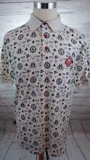 Mecca Mens Casino Gambling High Rollers Short Sleeve Polo Shirt Size Large - B6