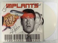 Implants From Chaos To Order Signed White Color Vinyl LP Strung Out Pulley