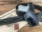 Alfonso's Of Hollywood Black leather Suede Lined Glock 30 OWB Holster G30 Cross