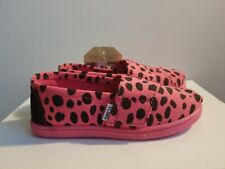 TOMS Tiny 10 Pink Dalmation Canvas
