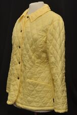 BARBOUR L414 WOMEN'S FLY WEIGHT SHAPED QUILT SHORT JACKET UK 12 PALE YELLOW