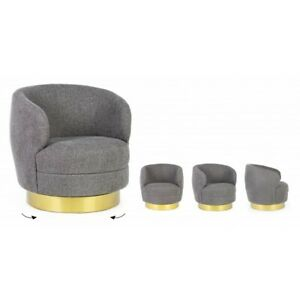 Armchair Revolving Gisella Grey Or Candy