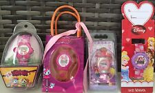 4 LCD Watches with dead batteries - LALALOOPSIES, DORA, DISNEY PRINCESS DRESS-UP