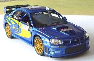 Blue Subaru Impreza Boys Dad Toy Model Car Birthday Gift Present Stocking Filler