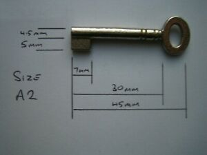 A2 Small Oval Key Blank for Antique Cabinet, Boxes, Furniture.Iron,Nickel Plated