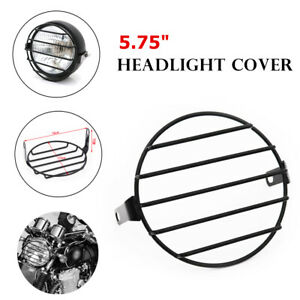 """5.75"""" Motorcycle Headlight Assembly Metal Mesh Grill Guard Headlamp Light Cover"""