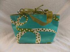 Kate Spade Tote Blue Green White Ribbon Pattern Tote Shopper Summer