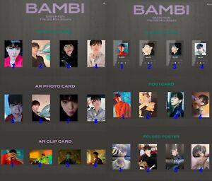 EXO BAEKHYUN solo Album BAMBI Original Authentic Photocard AR CLEAR set KPOP