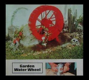 Garden Water Wheel How-To Build PLANS 4' Dia or smaller