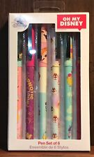 Oh My Disney Character Pen Set Of 6 Different Designs *New