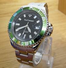 Mens Yves Camani Anwen Green Bond Style Classic Sports Gents Watch YC1065-B BNiB