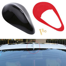 Black Front Mount Car Roof Shark Fin Antenna Cover Radio FM Signal Receiver 1x