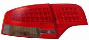 Back Rear Tail Lights Lamps LED In Red-Black For Audi A4 B7 Saloon 04-08