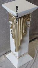 Säule Creme Gold Blumensäule Medusa Tisch Modern Podest Stuckgips 1038 +T  F141