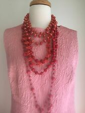 Vintage Pink Brocade Hand Made Full Length Cocktail Dress