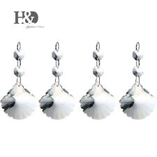 5pcs Clear shell shape Crystal prisms Octagon Beads Chandelier Light Decor 50 mm