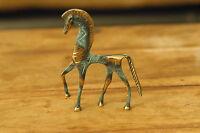 Ancient Greek Geometric Statue of a Horse, Oxidised Bronze