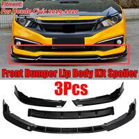 For 2019-2020 Honda Civic 10th Gen Gloss Black Front Bumper Lip Spoiler Splitter