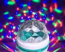 2 X E27 LED RGB Cristal Giratorio Etapa-Fiesta Discoteca DJ Bar Navidad Colorido Lámpara