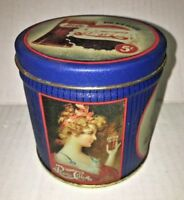 "Vintage Pepsi Cola Victorian Ladies Tin Box Co 3.5"" Tall Pepsico Made in USA"