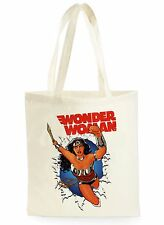 FUNNY WONDER-WOMAN POSTER COOL SHOPPING CANVAS TOTE BAG IDEAL GIFT PRESENT