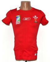 WALES WORLD CUP 2007 RUGBY UNION SHIRT JERSEY REEBOK SIZE S ADULT