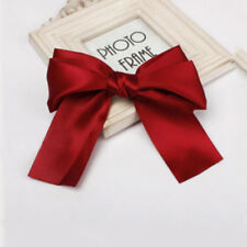 Women Girls Large Big Satin Hair Band Hair Clip Boutique Ribbon Bow Accessories