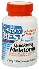 Doctor's Best QuickMelt Melatonin 2.5 mg, 120 Chewable Tablets