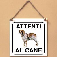 Epagneul Breton 2 Attenti al cane Targa cane cartello ceramic tiles