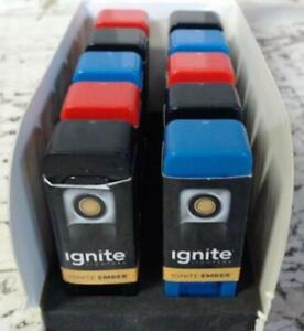 NEW CASE OF 10 Ignite Ember USB Flameless Lighters Assorted Colors $80