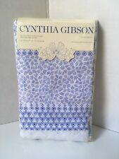 Cynthia Gibson Pillow Cases Standard Blue Primrose Cottage NIP