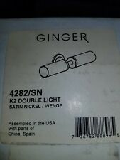 Ginger 4282/SN K2 Double Light in Satin Nickel