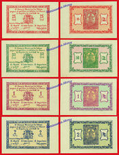 TOTANA SET COMPLETO 25 50 Centimos 1 y 2 Pesetas 1937 SC / UNC