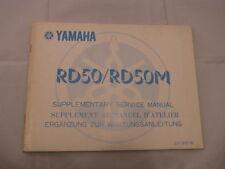 YAMAHA R50 RD50M  supplement MANUEL D'ATELIER SERVICE MANUAL WARTUNGSANLEITUNG