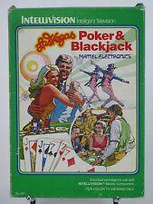 Las Vegas Poker and Blackjack Game Intellivision I II Mattel Overlays Inst & Box