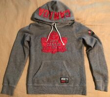 Rare Roots 2014 Canada Hoodie Gray Maple Leaf XS Let's Go Hooded Sweatshirt