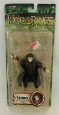 NOS ToyBiz Lord of the Rings Fellowship FRODO W/ Sword Attack MOC Green Card