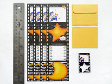 NEW MOVIE THEME Mini Stationery Paper Letter Set 4 Sheets, 2 Envelopes, Stickers