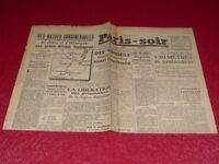 [PRESSE WW2 GUERRE 39/45] PARIS-SOIR # 6871 MARDI 28 AOUT 1942 Stalingrad