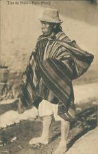 Postcard Peru Peruvian Native Farmer  unposted
