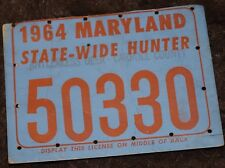 MARYLAND STATE WIDE HUNTING LICENSE 1964