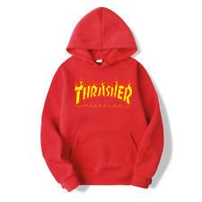Men Women Hoodie Sweater Hip-hop Skateboard Thrasher Sweatshirts Pullover Coats