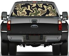 Camo Tan Diamont Plate Rear Window Graphic Decal for Truck SUV Vans