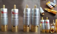 Nakamichi SOLDERLESS 5 pair RCA Phono Plugs Genuin Gold 24K Plated -10 Unidades