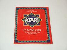 ATARI CATALOG 1981 atari 2600 manual