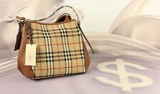 Burberry Horseferry Check Small Canterbury Panes Tote Leather New MSRP $1150 #V1