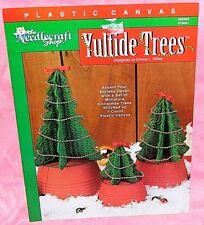 The Needlecraft Shop Yuletide Trees Plastic Canvas Chart Leaflet Christmas
